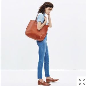 Madewell TRANSPORT TOTE IN ENGLISH SADDLE